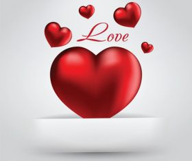 Exquisite valentines day greeting card vector