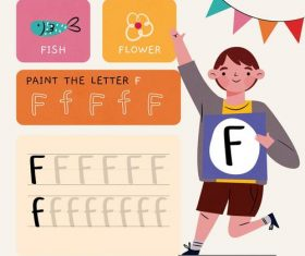 F letter word meaning and spelling vector