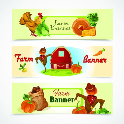 Farm banner vector