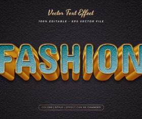 Fashion embossed texture effect font text vector