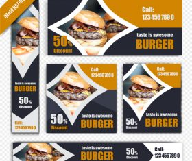 Fast food burger poster vector