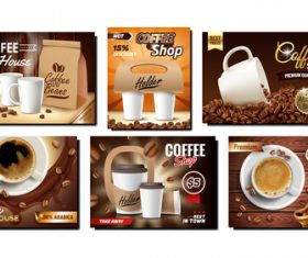 Featured coffee poster vector