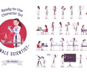 Female medical professor cartoon character vector