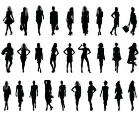 Female silhouette character vector