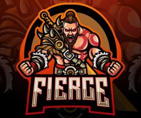 Fierce game mascot design vector