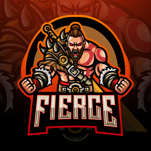 Fierce game mascot design vector