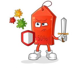 Fight virus cartoon icon vector