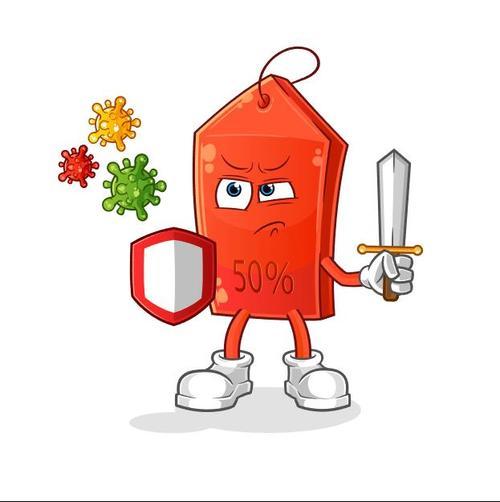 Fight virus cartoon icon vector