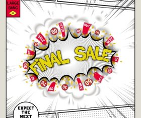 Final sale comic bang vector