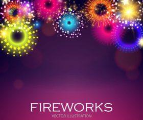 Fireworks illustration vector