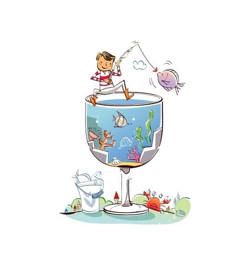 Fishing hand drawn illustration vector