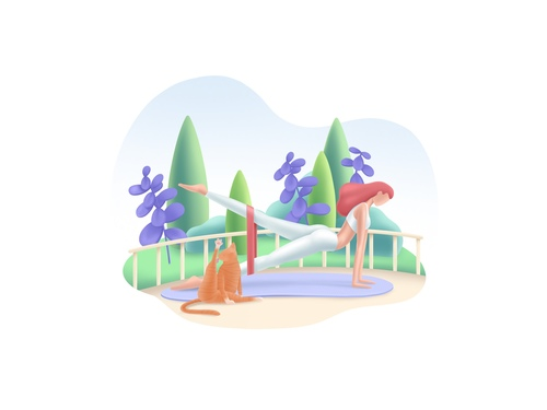 Fitness cartoon illustration vector
