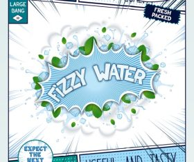 Fizzy water comic bang vector