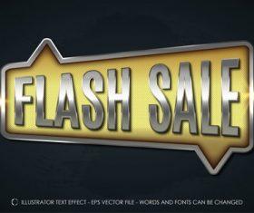 Flash sale 3d editable text vector