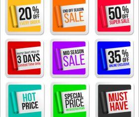 Flat sale label sticker vector