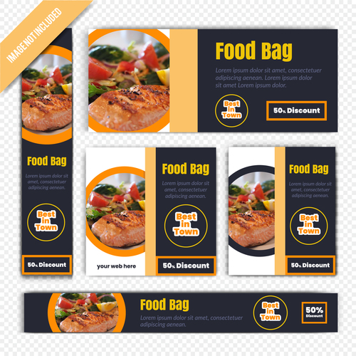 Food bag poster vecto