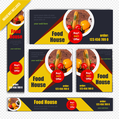 Food house poster vector