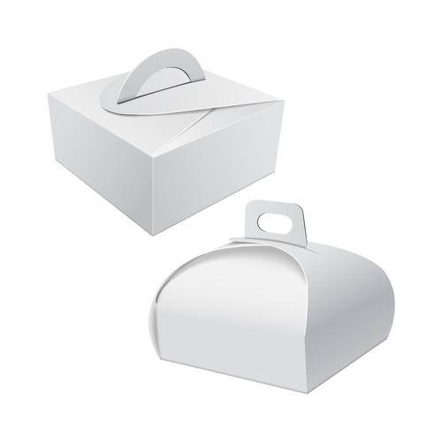 Food packaging box vector