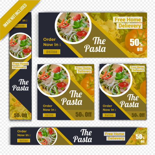 Free home delivery restaurant poster vector