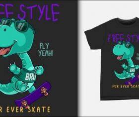 Freestyle and T-shirt printing design vector
