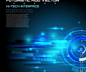 Futuristic huo abstract background vector