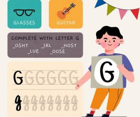 G letter word meaning and spelling vector