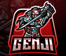 Genji game mascot design vector