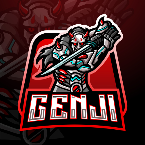 Genji game mascot design vector