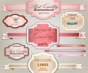 Genuine premium label sticker vector