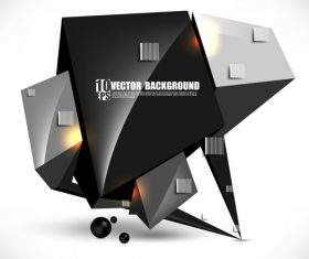 Geometric cube 3D background vector