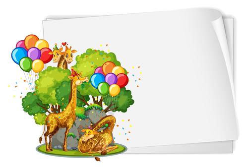Giraffe party vector