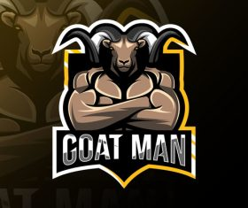Goat men game mascot design vector