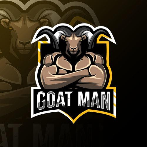 Goat men game mascot design vector