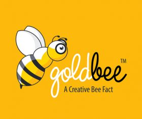 Golden Bee Fly Logo vector