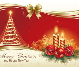 Golden atmosphere christmas card vector
