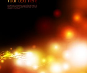Golden blurred light dots background vector