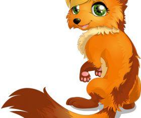 Golden fur fox vector