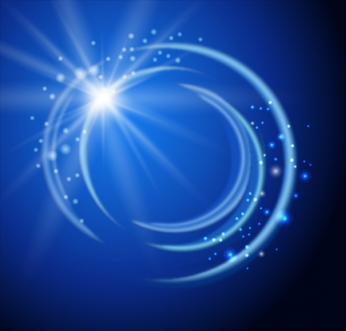Gorgeous blue glare backgrounds vector
