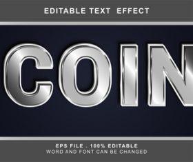 Gray 3d editable text style effect vector