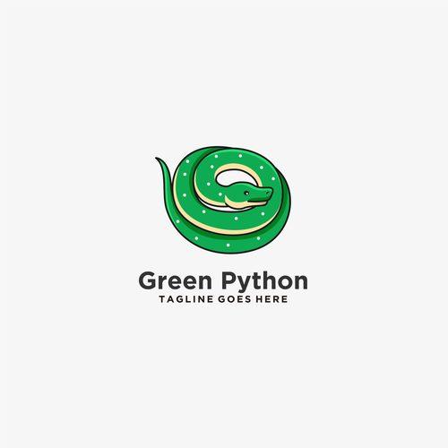 Green python logos vector