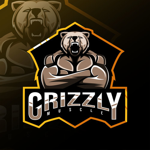 Grizzly game icon design vector
