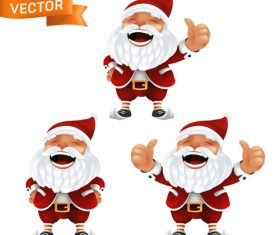Haha laughing santa claus cartoon icon vector
