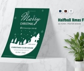 Halfball XMas Flyer vector