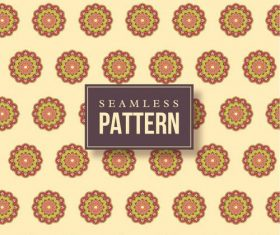 Hand drawn mandalas seamless pattern vector