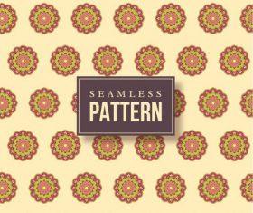 Hand drawn mandalas seamless pattern vector