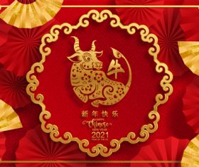 Happy new year chinese new year greeting card vector