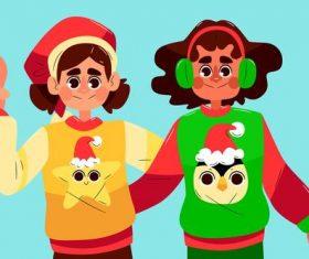 Happy people cartoon vector