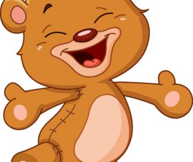 Happy smiling teddy bear vector
