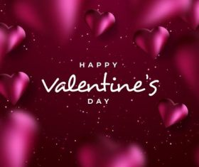 Heart shaped background Valentine's day greeting card vector