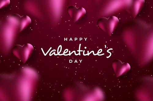 Heart shaped background Valentines day greeting card vector